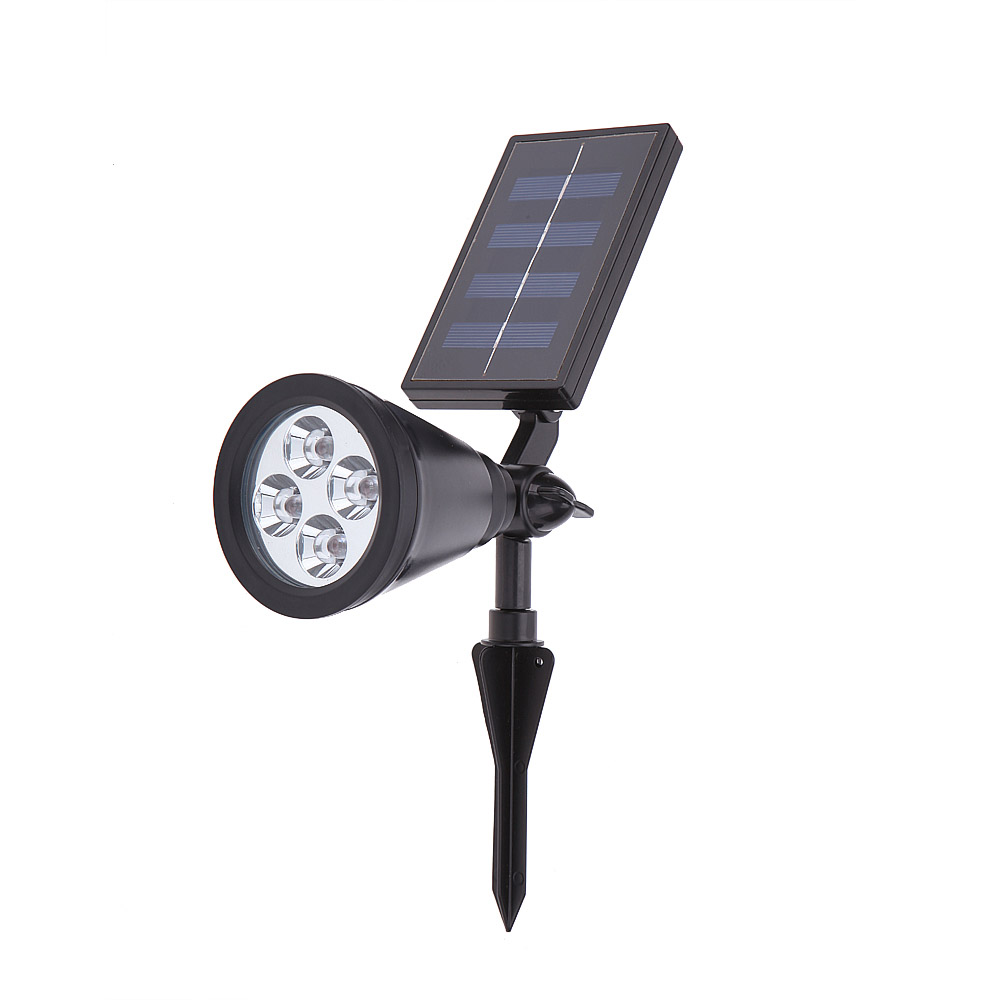 High Bright 4 LED Solar Powered Light Lamp for Outdoor Landscape Garden Driveway Pathway Yard Lawn Decorative Lighting(China (Mainland))