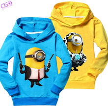 Baby Boy T Shirts Brand Girls Boys Clothes Despicable Me Children Clothing Minions Long Sleeve Tops Tees Casual Kids T-Shirt Q47