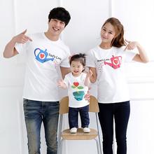 2016 family Matching set father mother child kid T-shirt 100% cotton water bottle flower design Boys girls fashion Tshirt Tops(China (Mainland))