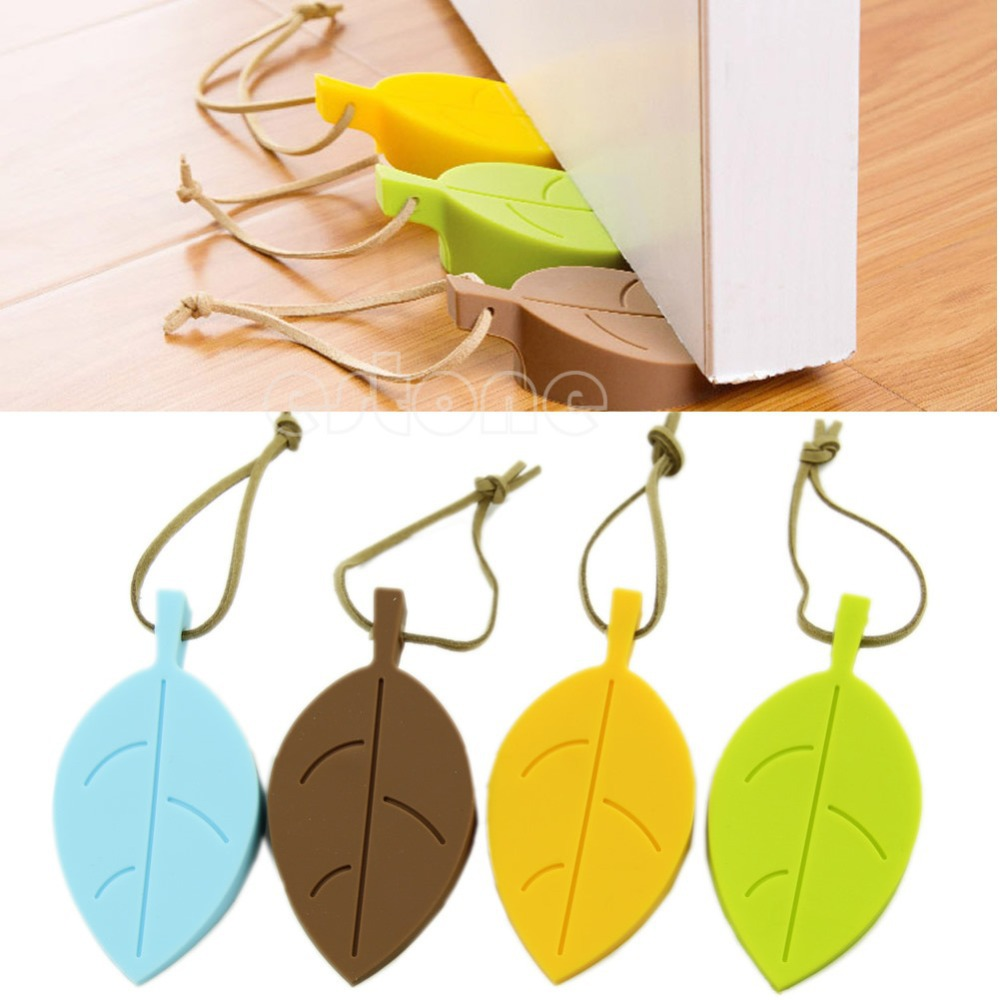 F85  Free Shipping Funny Leaf Style Home Decor Finger Safety Protection Door Stop Stopper Doorstop<br><br>Aliexpress