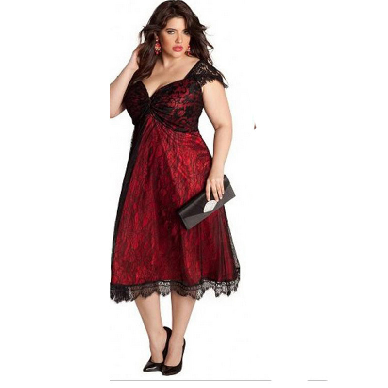 Tea Length Plus Size Party Dresses - Holiday Dresses