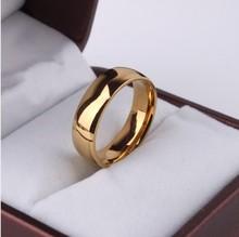 Os amantes de titânio anel de largura (2pcs / lot) 5mm18K real K banhado grande anel de homens e mulheres amantes anel anel de noivado anel EUA TAMANHO