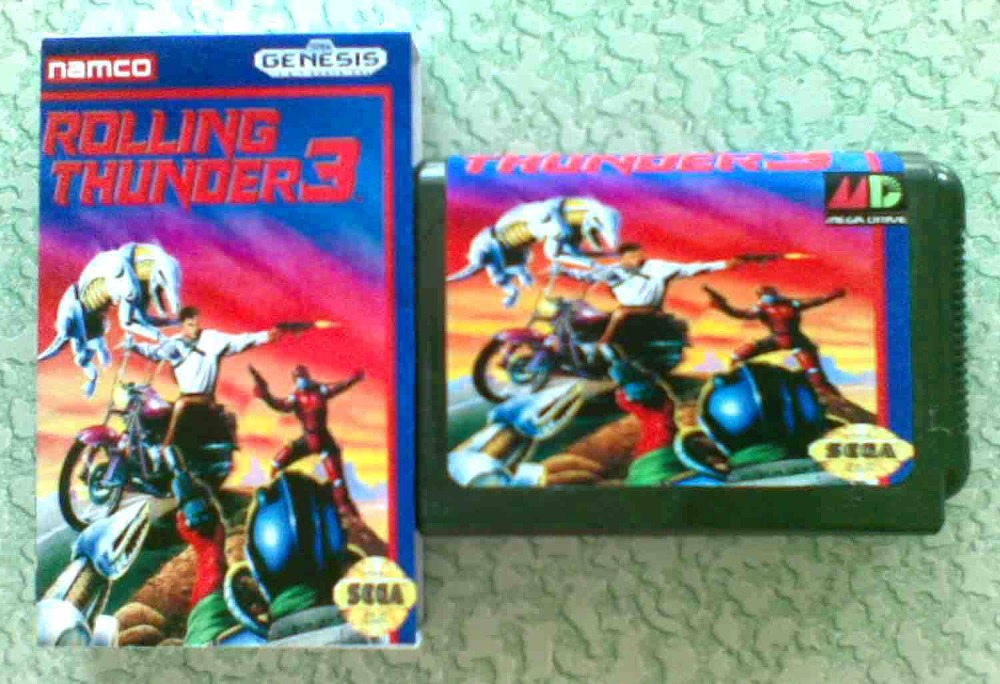 16 bit Sega MD game Cartridge - rolling thunder 3 with Retail box for Megadrive Genesis Free shipping!(China (Mainland))
