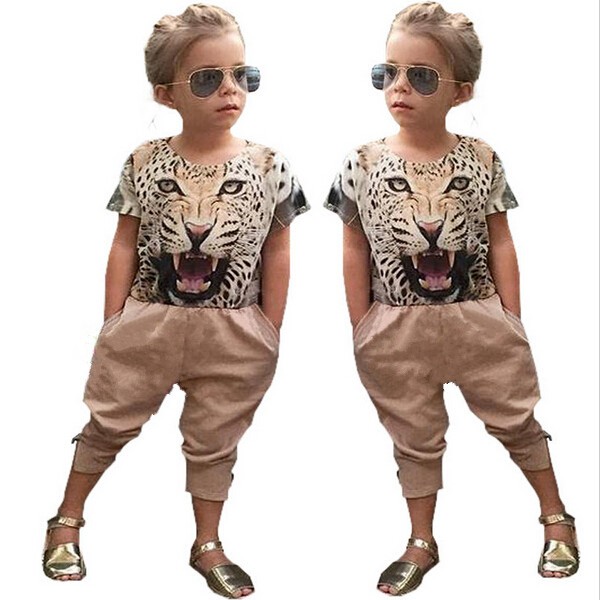 2PCS Fashion Baby font b Girls b font Summer font b Clothing b font Suit 3D