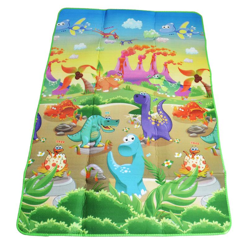 Baby Play Mat 180*120*0.5cm Double Side Dinosaur+Animal ...