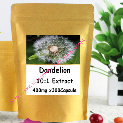 1 pack 100% Dandelion herb extract 4% flavonoids caps 500mg x 300pcs caps  free shipping<br><br>Aliexpress