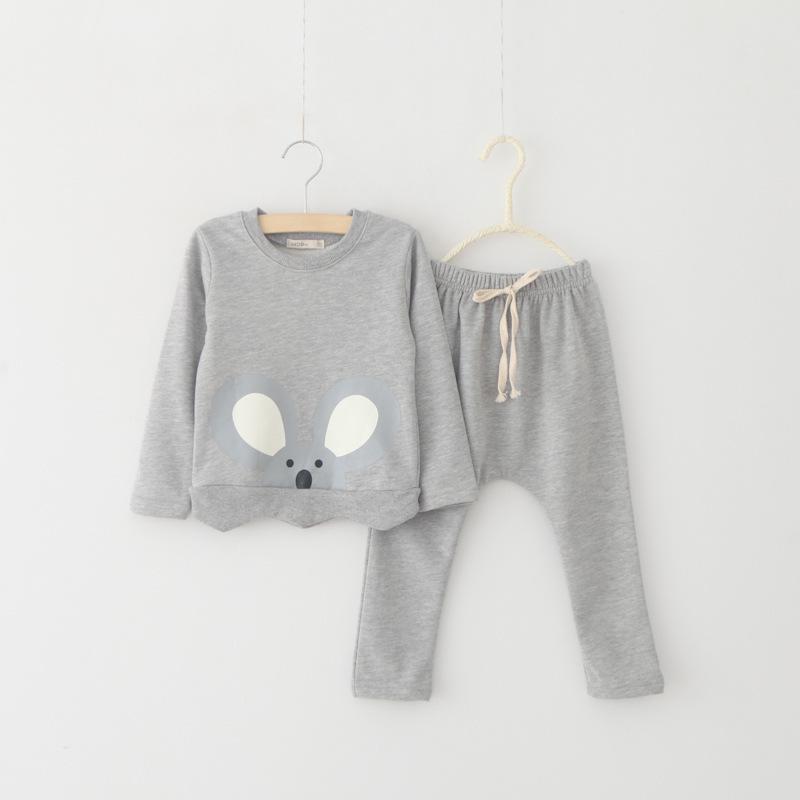 2015 fashion baby girls autumn sets,2pcs pink/gray cartoon t-shirt+pink/gray long pants suits,kids girls sports cute wear<br><br>Aliexpress