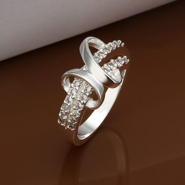 Fine Jewelry,Creative Design Unique Crystal Summer Style Wholesale Price 925 Sterling Silver Ring For Women(China (Mainland))