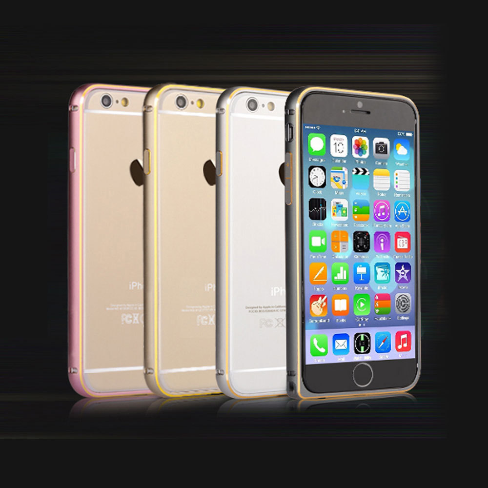 Luxury Metal Bumper For Apple iphone 6 4.7 inch Multicolor Ultrathin Silm Bumper Frame Case Cover(China (Mainland))
