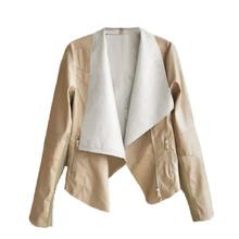 Winter Coat Jacket Women 2015 New Fashion Leather Jacket Women Jaqueta Feminina Winter Faux Leather Retro Motorcycle Jacket(China (Mainland))