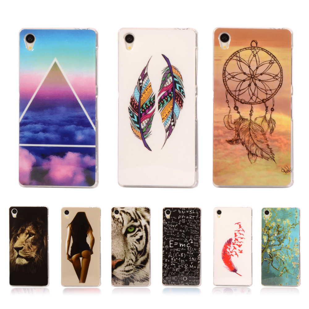 """Z4 Pattern Rubber Tribe TPU Cover For SONY XPERIA Z4 Z3X Z3+ Z3 Plus E6533 E6553 5.2"""" With Gel Case Mobile Phone Protective Case(China (Mainland))"""