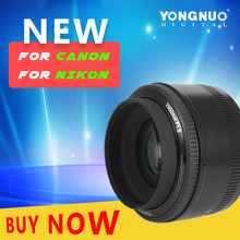 Buy New YONGNUO YN50MM F1.8 Large Aperture Auto Focus Lens Nikon Canon DSLR 50mm f1.8 lens New Arrival for $48.00 in AliExpress store