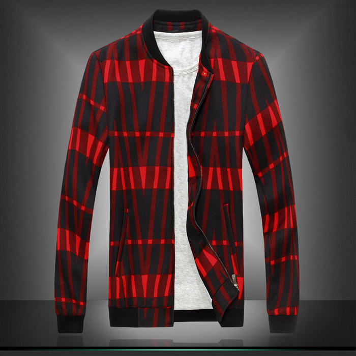 2015 Men Casual Jackets Plus Size M-3XL New Arrival Spring Fashion Brand Stripes Slim Fit Jackets J1302(China (Mainland))