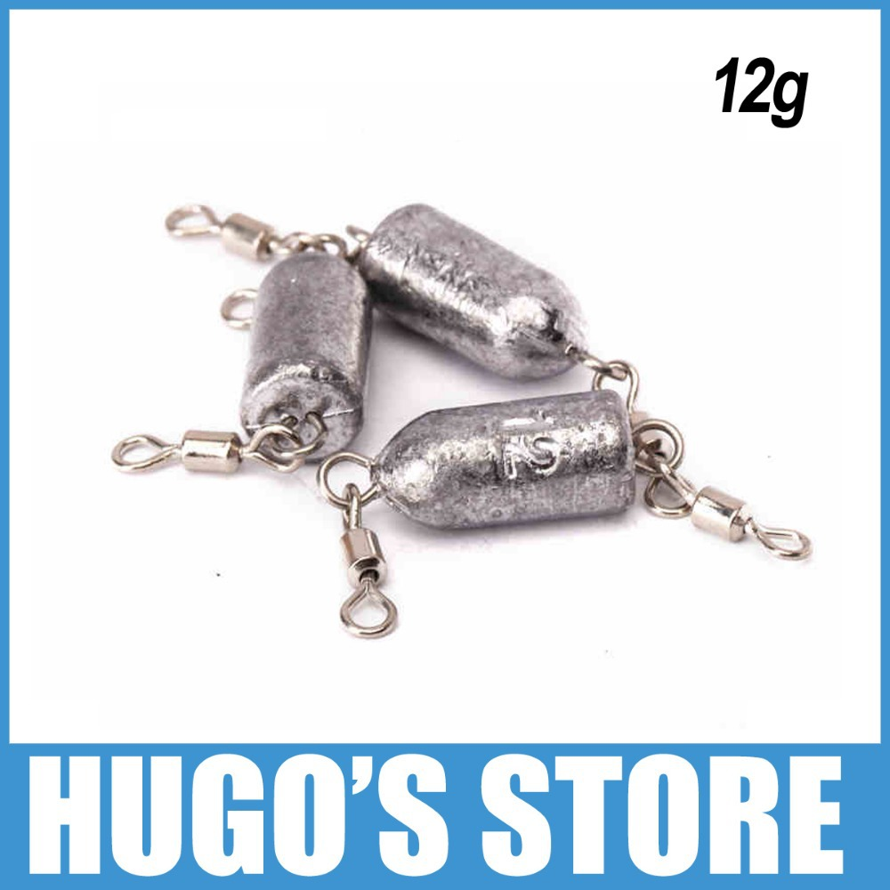 10 pieces 12g lead fishing weight trolling lead for Inline fishing weights