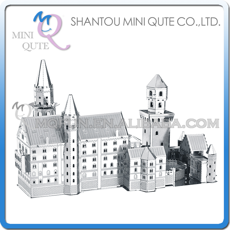 Mini Qute 3D Metal Puzzle New Swan Stone Castle world architecture famous building Adult model educational toys gift NO.B31127(China (Mainland))