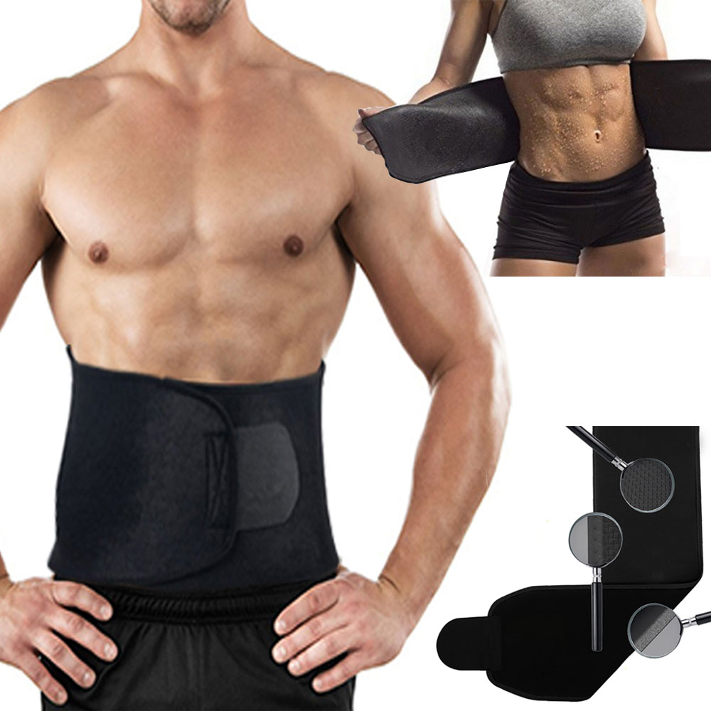 New Adjustable Waist Trimmer Exercise Sweat Belt Fat Burner Body Shaper Slimming Lose Weight Body Burn Cellulite for Men Women(China (Mainland))