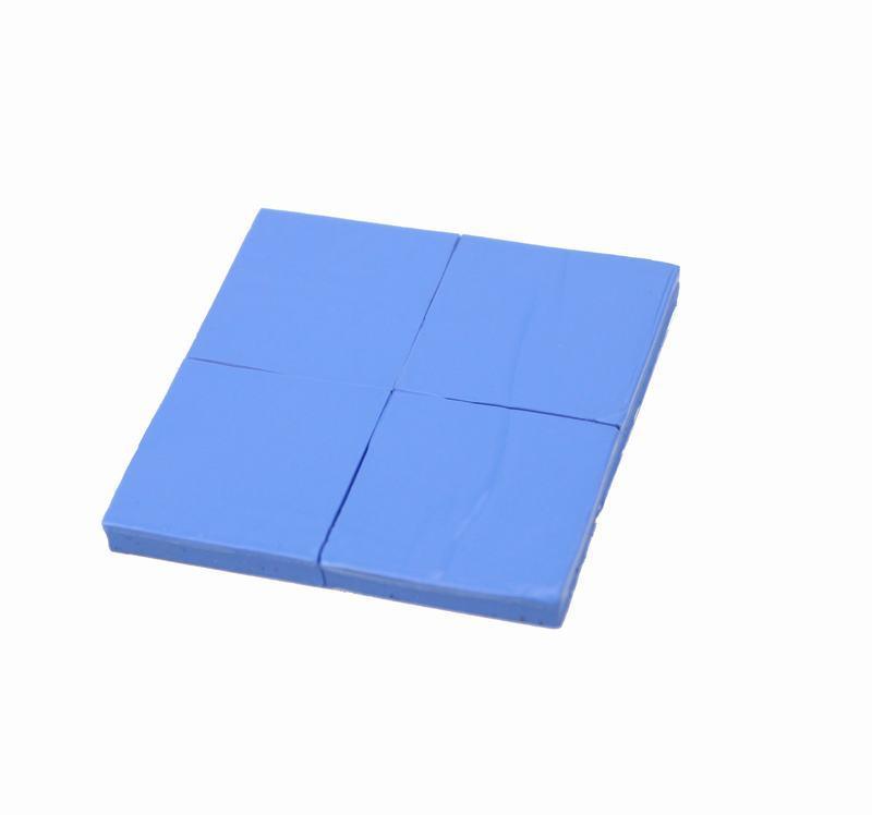 Free Shipping--25 x 25 x 2mm/PCS 240PCS/Lot  Blue  Conductive Silicone Pad Thermal for CPU GPU VGA Heatsink Silicone<br><br>Aliexpress