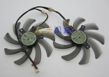 Original EVERFLOW graphics dual fan T129215SM 12V 0.25A 1set 2pcs