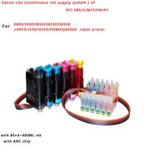 Canon ciss of BCI-6BK/C/M/Y/PM/PC For Canon S800/S900/S820/S820D/S830D/i905D/i950/i9100/PIXMAIp6000D inkjet printer