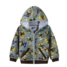 NEW arrival terry cotton 100 kid's hoody  jacket with cute cartoon print 36M size(China (Mainland))