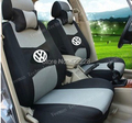 Customized 5 Seats+Free Shipping+Seat Cover For All Volkswagen Car+Airbag Compatible+Breathable Material+Gift (Two Pillows)+Logo