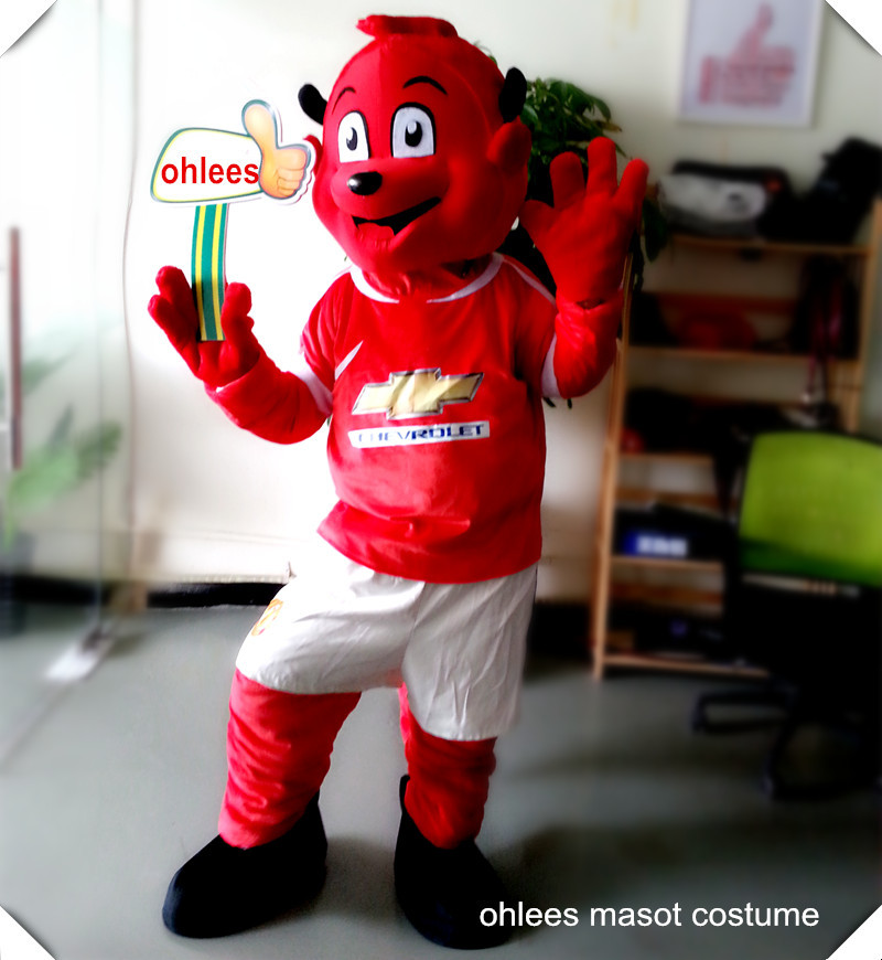 Ohlees Hot football sport devil Fred Mascot Costume fanny School sports meet mascot accept costomize(China (Mainland))