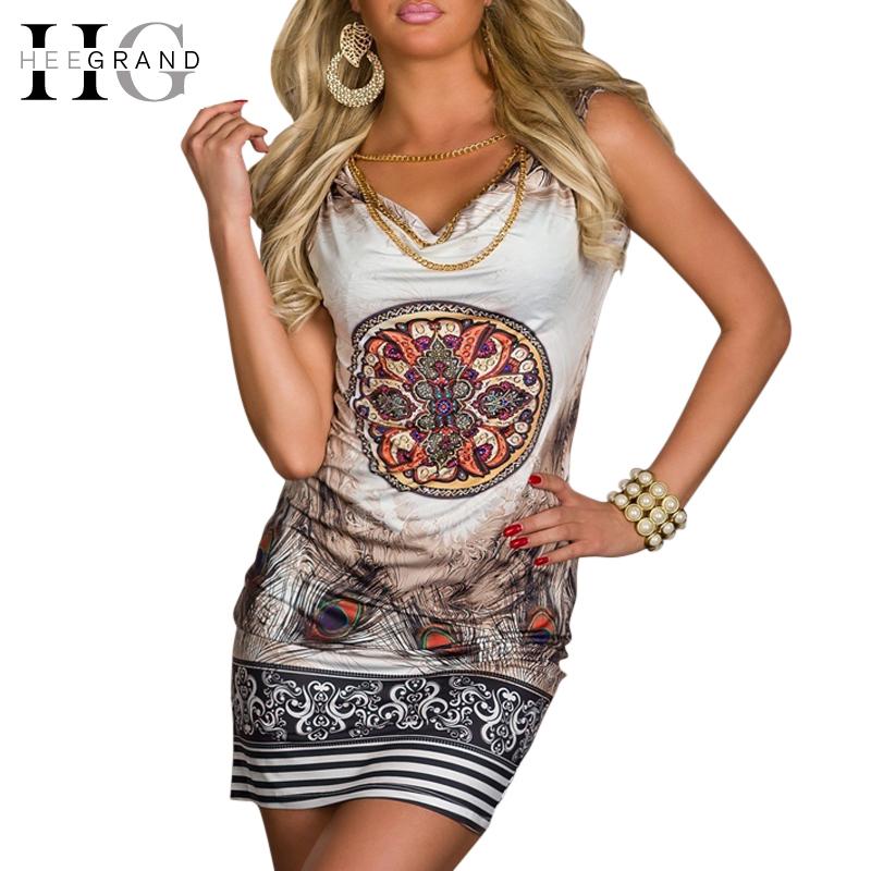 2014 beach dress for summer print vintage party mini leopard women sexy club dress WQL1108(China (Mainland))