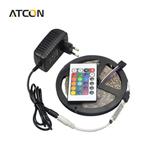 Buy 1Pcs DC 12V 5M /Roll 3528 SMD RGB LED Strip light Ribbon 60LEDs/M 24Key Remote Controller 3A Power Adapter Indoor lighting for $2.39 in AliExpress store