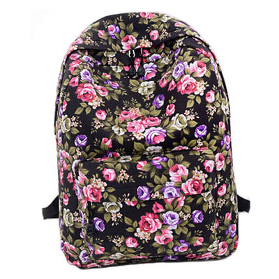 2014 New Arrival Floral Printed Canvas Backpack Fashion Girls' School Bag Flowers Women rucksac