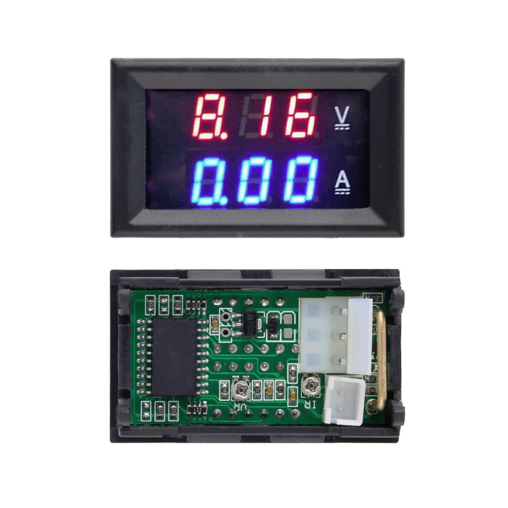 1pc DC 100V 10A Voltmeter Ammeter Blue + Red LED Amp Dual Digital Volt Meter Gauge Drop Shipping Wholesale(China (Mainland))