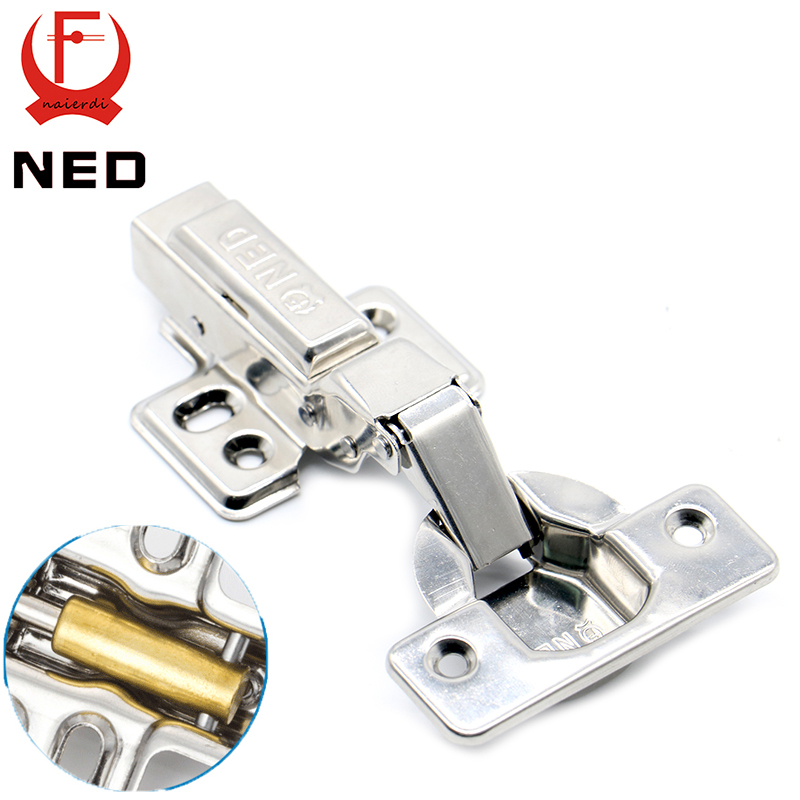 4PCS NED Super Strong 40MM Cup Hinges Stainless Steel Hydraulic Copper Core Hinge For Cupboard Cabinet Door Furniture Hardware(China (Mainland))