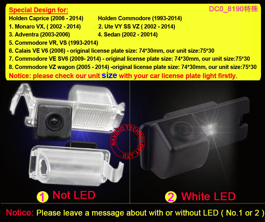 For Sony CCD Holden Caprice Commodore Sedan Car rear view Camera car parking reverse back up camera PAL( Optional ) waterproof(China (Mainland))