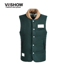 Viishow Hot sales!! 2015 New arrvial men's Brand clothing Autumn and winter down vests male down vest casual vest full M-XXL(China (Mainland))