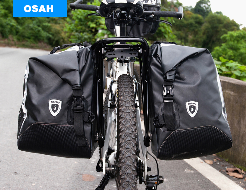 OSAH best Bicycle Cycling bags 50L IPX6 Professional waterproof rating Riding Rack Pack Luggage Bag Pannier Rear Bag(China (Mainland))