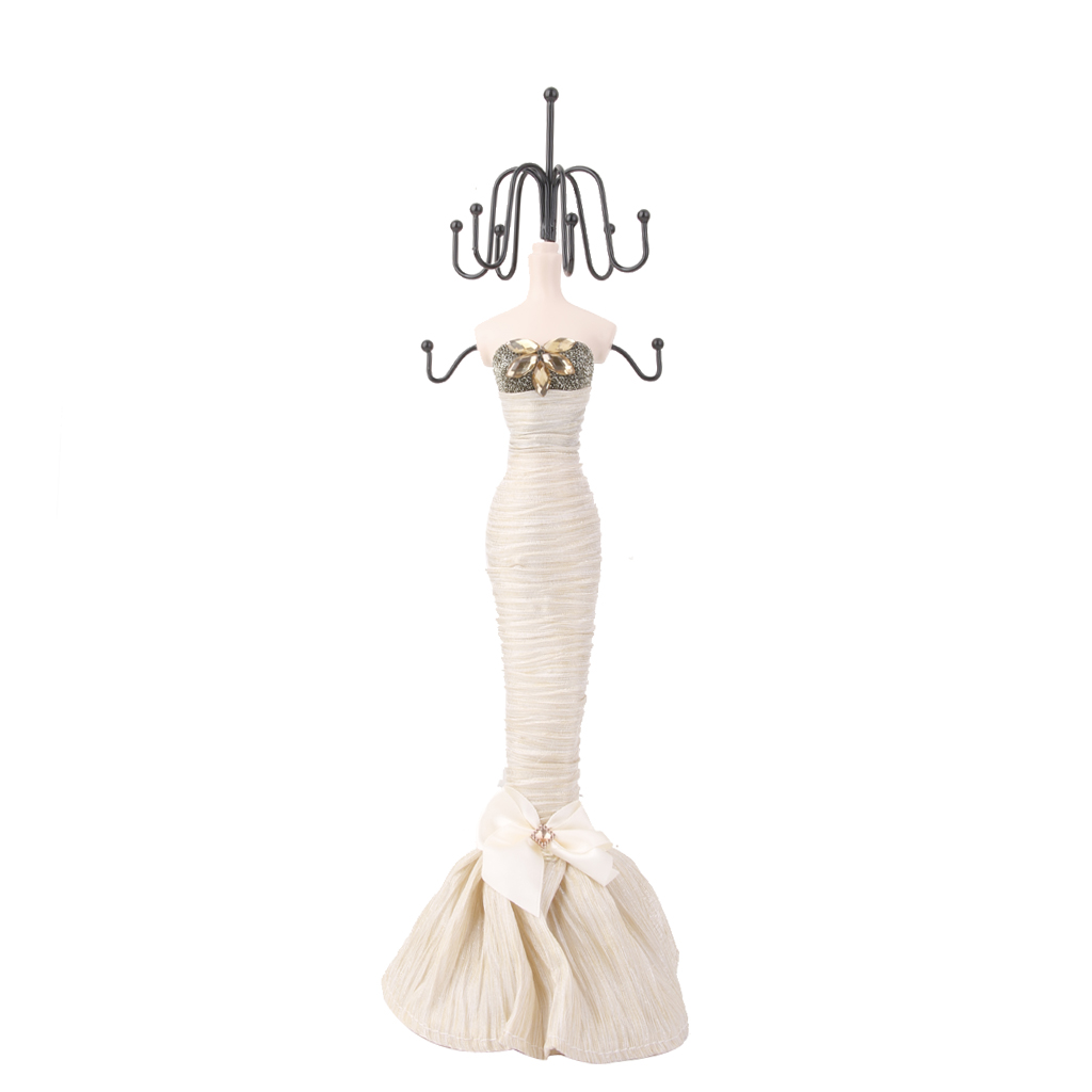 Mannequin Jewellery Stand Necklace Display Holder Evening Dress Lady Figure
