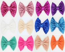 "Buy 25pcs/lot 7""Super Big Messy Sequin Bows Headband,Hair Bow WITHOUT Hair Clips,Hair Band Hair Accessories for $30.80 in AliExpress store"