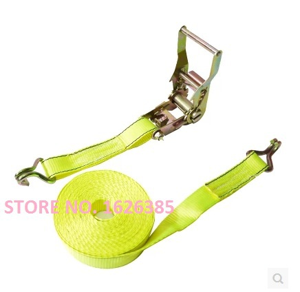 Free shipping!2TX10M with 2-hook Metal cargo lashing strap ratchet tie down cam buckle winch strap webbing sling(China (Mainland))