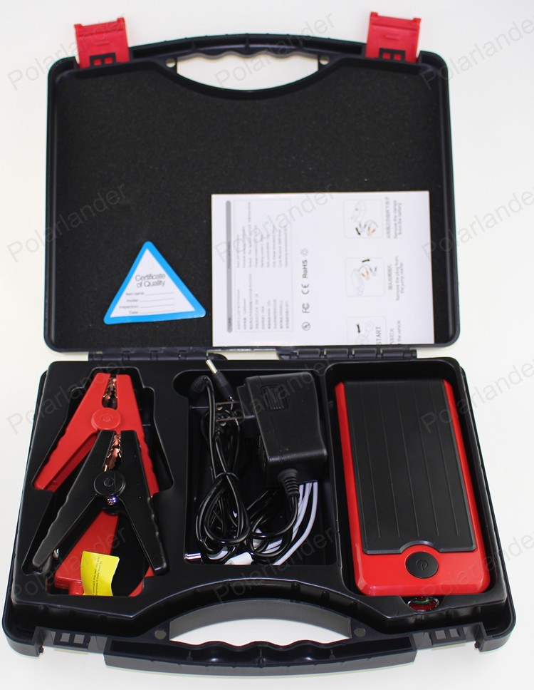 big sale Super Car Jump Starter 18000mAh Vehicle AUTO Engine Booster Emergency Start Battery Portable Charger Power Bank for2USB(China (Mainland))
