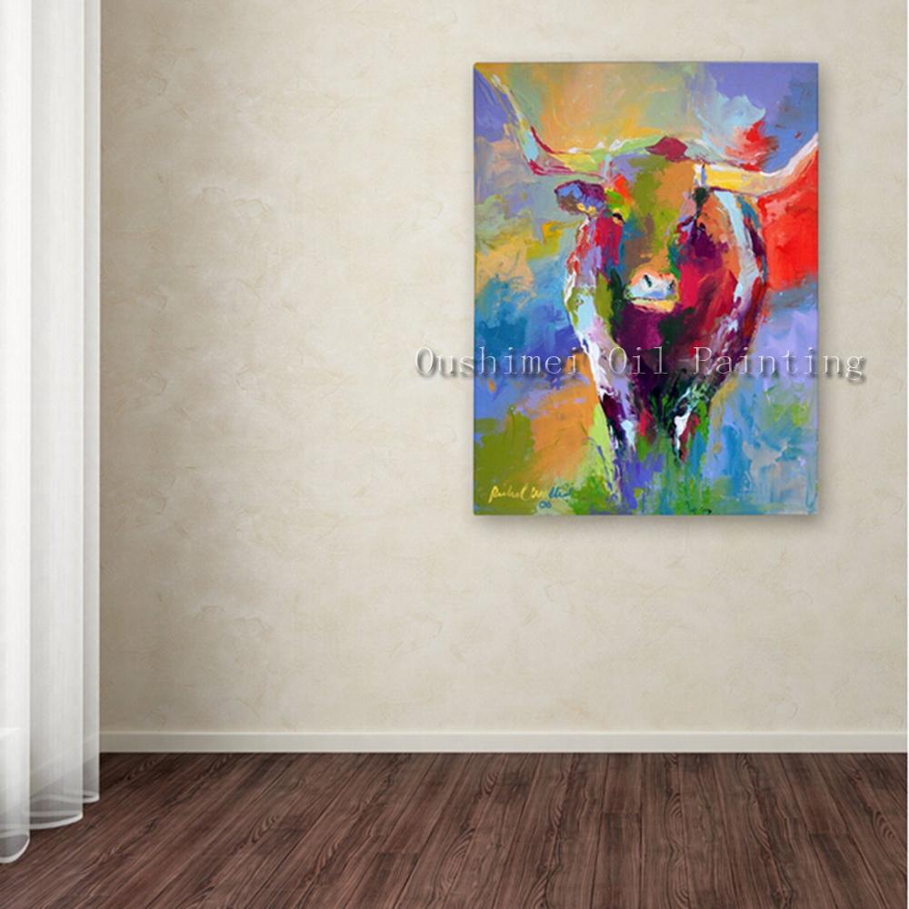 Online get cheap coloration photos de la vache aliexpress for Tableaux modernes colores