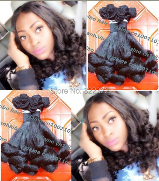 Funmi Hair Top 6a quality 3pcs/lot 1b# 8-26 tip curl brazilian virgin aunty funmi hair weft free shipping<br><br>Aliexpress