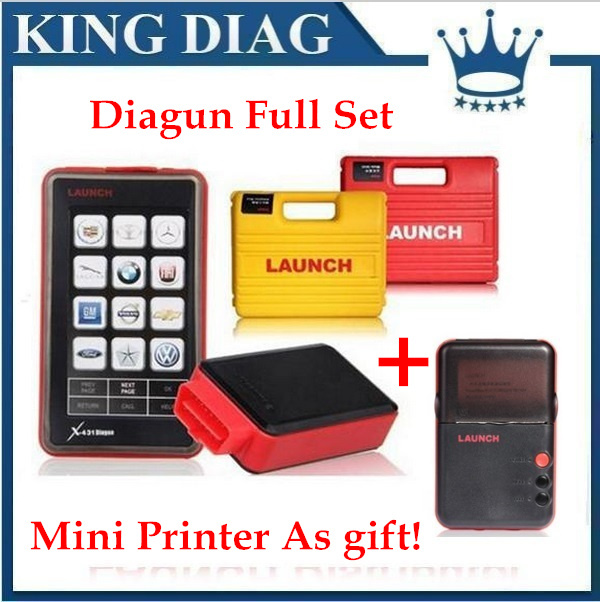 Mini Printer As gift! 2015 Newest Version Launch X431 Diagun full set adapters life-long Free update by email DHL Free Shipping(China (Mainland))