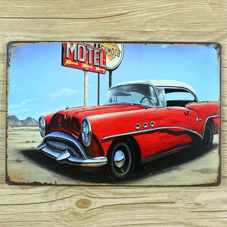2015 Metal tin signs Vintage plaques art wall sticker Car antique plate Retro decor home bar wall 20X30CM Free shipping GY-00294(China (Mainland))