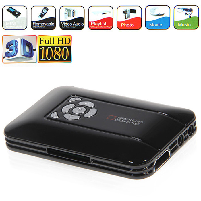 100% NEW Mini 1080P Full HD Media Player 1080P TV BOX USB HDMI SD/MMC Multi TV 3D HDD Media Player With Remote Control(China (Mainland))