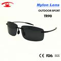 2016 New Summer Rimless Sunglasses Men TR90 Light Weight Outdoor Sport Male Sunglass Revo Blue Gray
