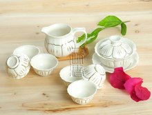8pcs Beautiful Tea Set, Porrtery Teaset,A3TJ02, Free Shipping