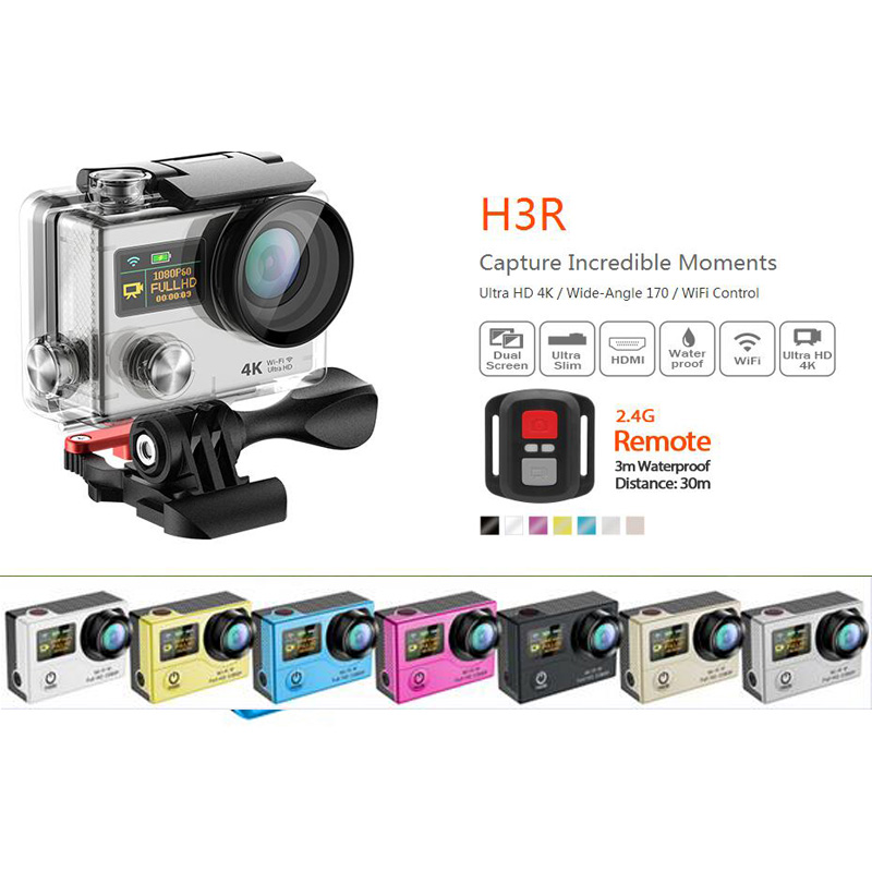 "Фотография Eken H3R Upgrade H3 Action camera Ultra HD 4K Video Sports Camera 170 degree Wide Angle 2"" Dual Screen Remote Control Camera cam"