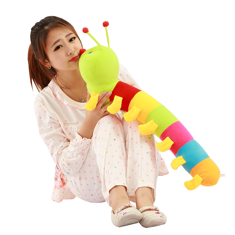 """1pcs 20"""" 50 cm Popular Colorful caterpillar Insect Plush Toy Inchworm Soft Lovely Toy for Caterpillar juguetes hold pillow Toys(China (Mainland))"""
