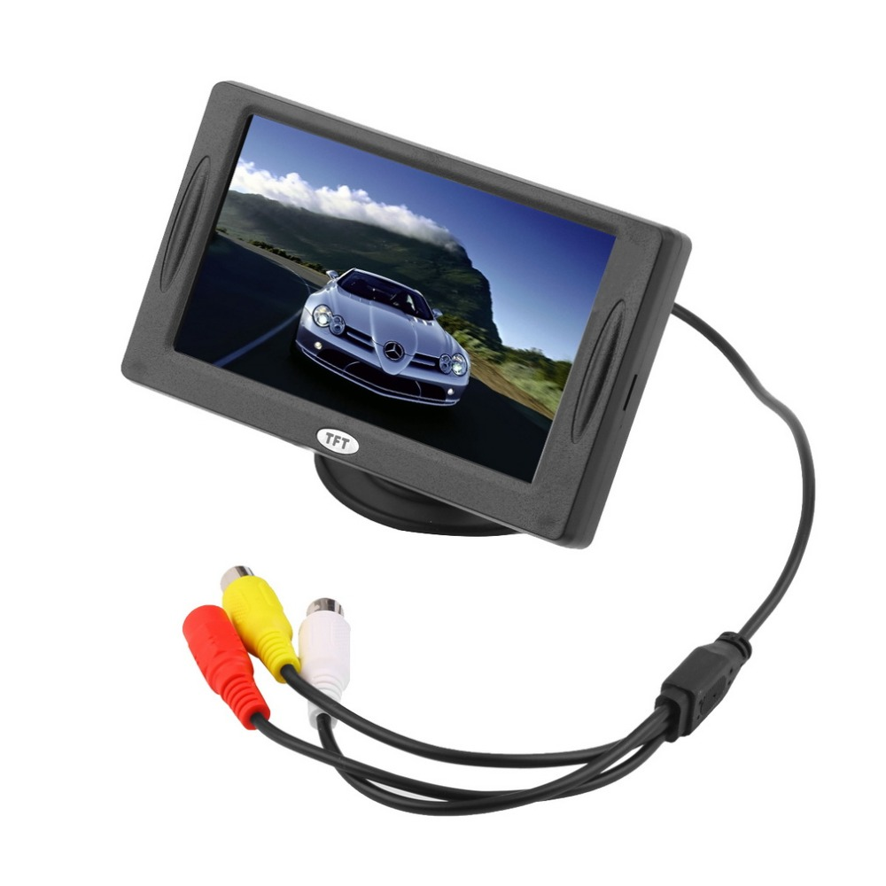 """2015 New Arrival Classic Style 4.3"""" TFT LCD Rearview Car Monitors for DVD GPS Reverse Backup Camera Vehicle driving accessories(China (Mainland))"""