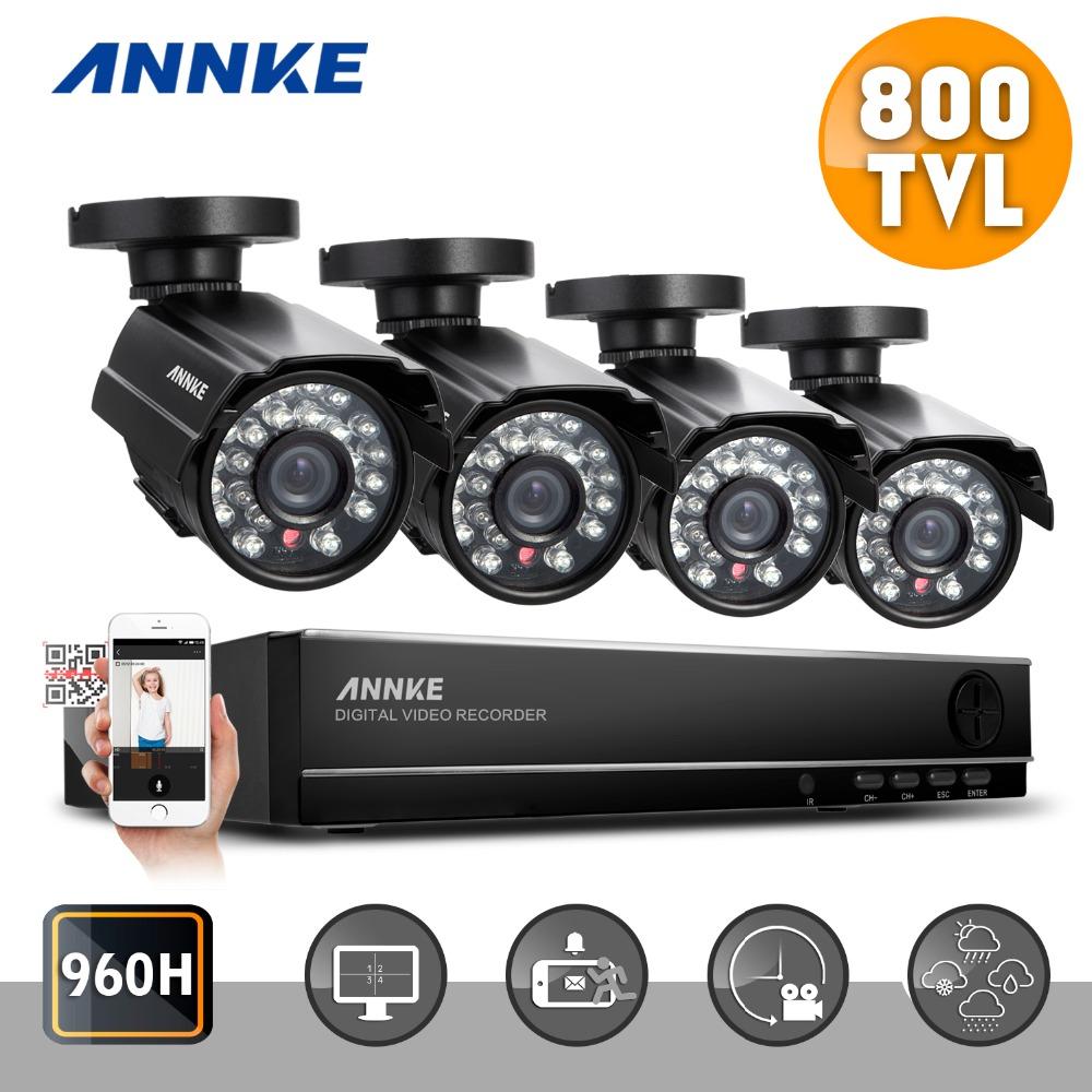 ANNKE HD 4CH CCTV System 960H 1080P HDMI DVR Kit 800TVL Outdoor Security Waterproof Night Vision 4 Cameras Surveillance Kits(China (Mainland))