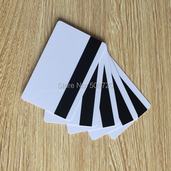 10pcs Blank White PVC Hico 1-3 magnetic stripe card Plastic Credit Card 30Mil Magnetic Card with printable for card printer(China (Mainland))